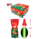 Chaozhou Manufacturer Christmas hat shaped lollipop candy stick with light