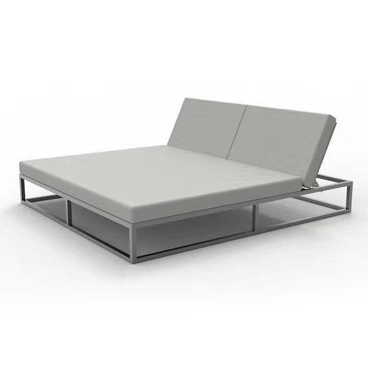 Aluminum outdoor Daybed outdoor sun lounge bed
