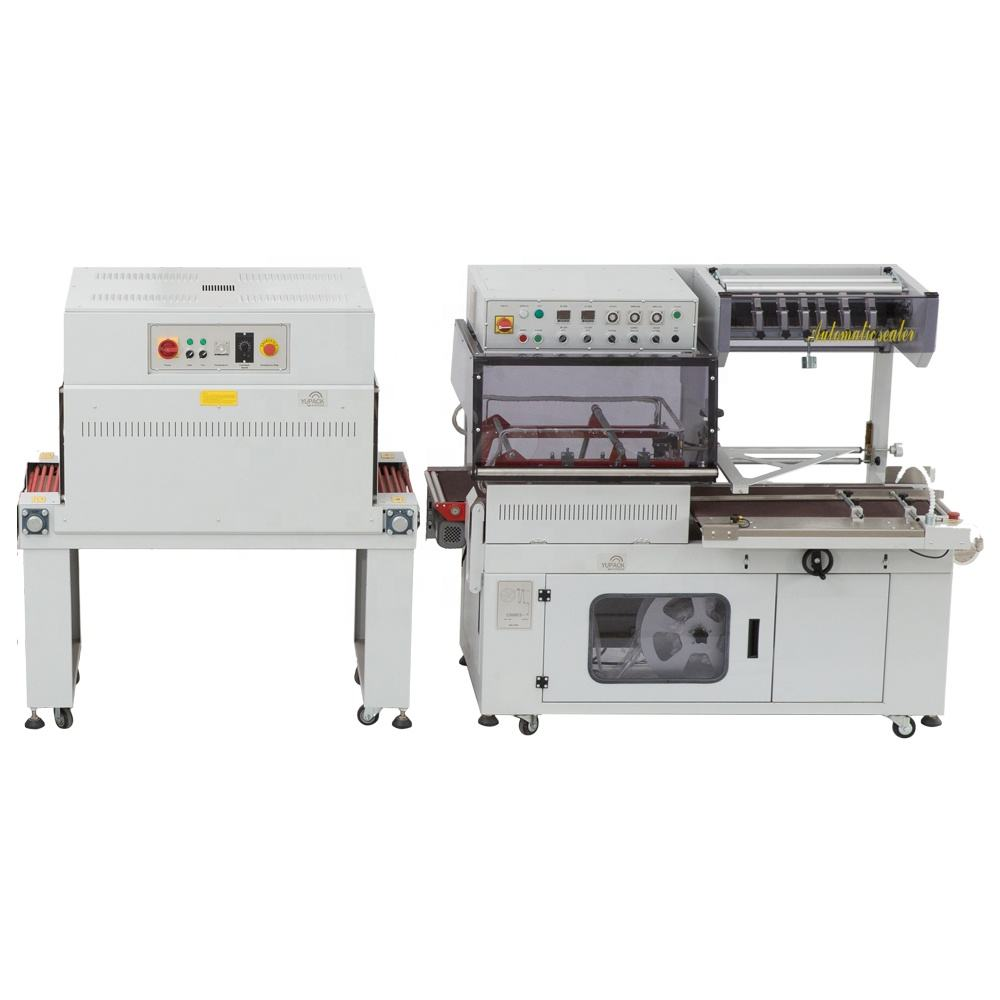 White Color CE certification Full Automatic L-Sealers Shrink Machine