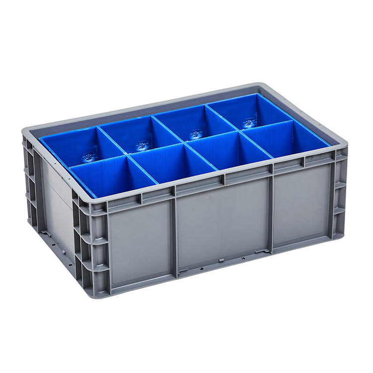 Ease of cleaning square stackable vegetable and fruit plastic industries turnover box