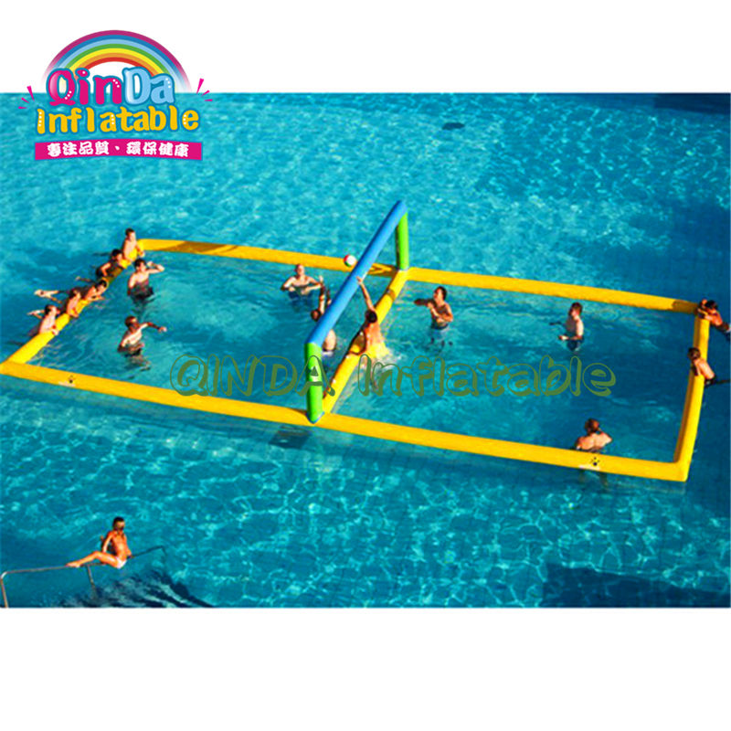 Floating water sport inflatable aqua volleyball court with factory price inflatable water sport