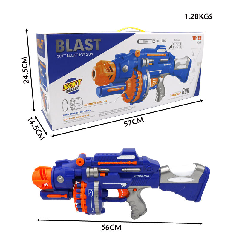 Big size electronic EVA bullet nerf- gun kids toy elite dart toy gun