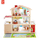 2020 Top sale luxurious classic DIY kids wooden doll house miniature With Light