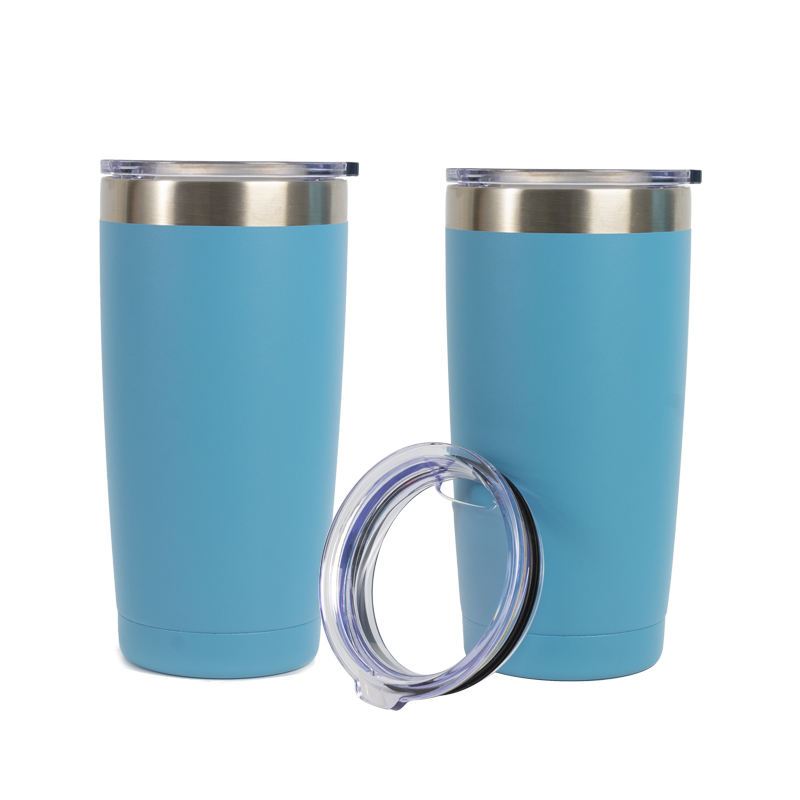 Double Wall 18/8 Stainless Steel Copper Vacuum Insulated Thermal Tumbler 20 oz