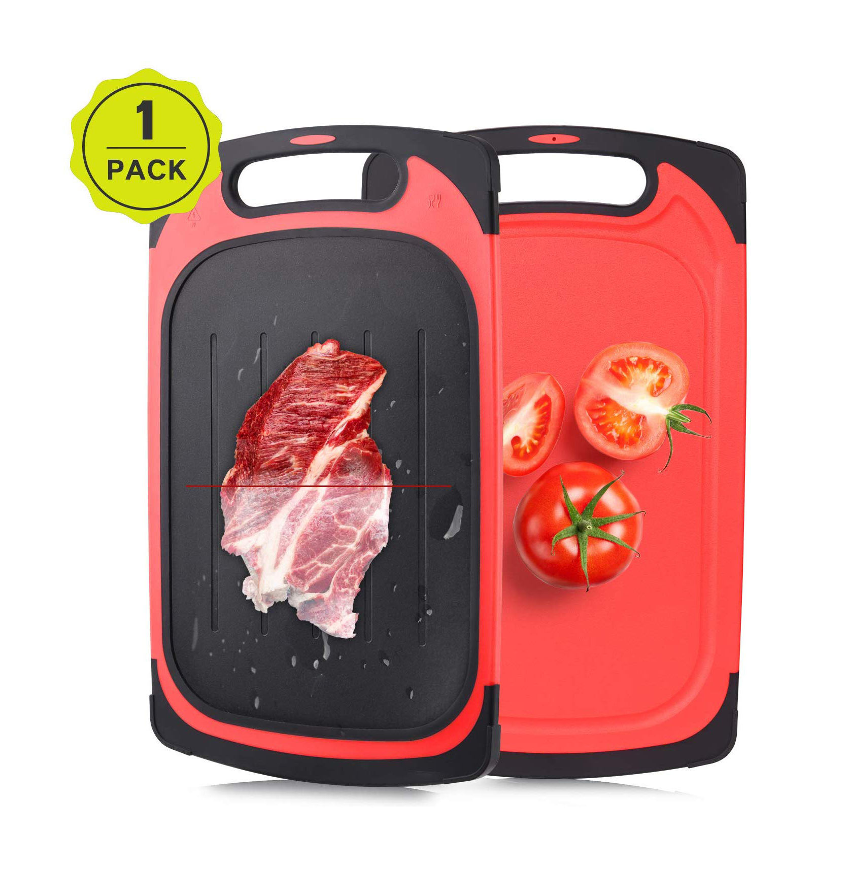 Amazon New 2 In 1 Thawing Tray Thaw Frozen Food Cutting Board Magic Defrosting Tray