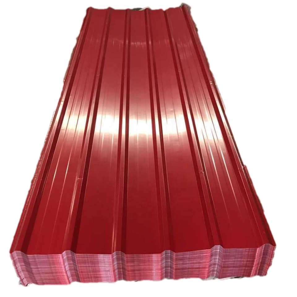 Zinc coated colorful roofing steel corrugated sheet metal roofing for sale