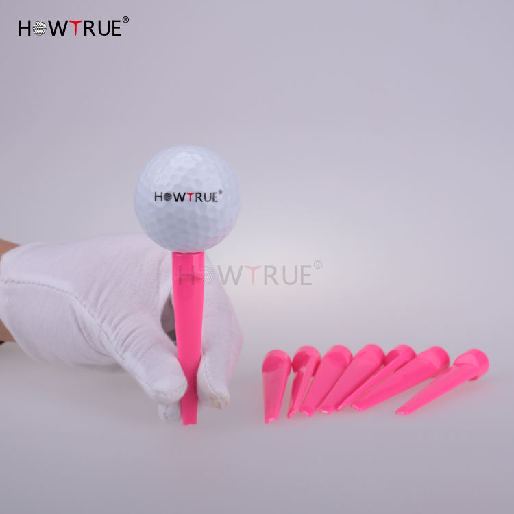 Hot Selling New Custom Cheap Price Colorful 70mm Multi Color Plastic Rubber Golf Tee Rubber Top Golf Tees