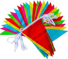 Cheap Small MOQ Custom Colorful Decoration String Banner Bunting Flag Travel Pennant