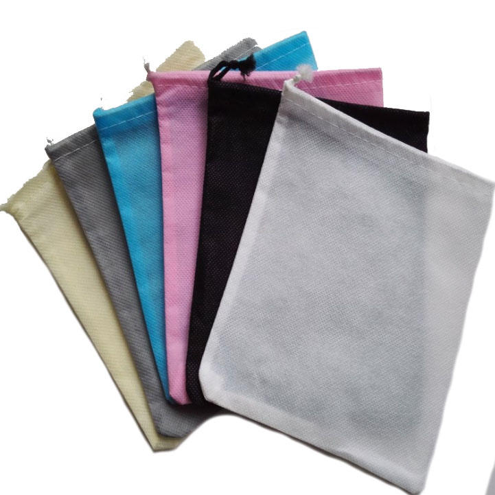 cheapest Wholesale custom image logo size hotel reusable 70gsm nonwoven laundry bags drawstring bag