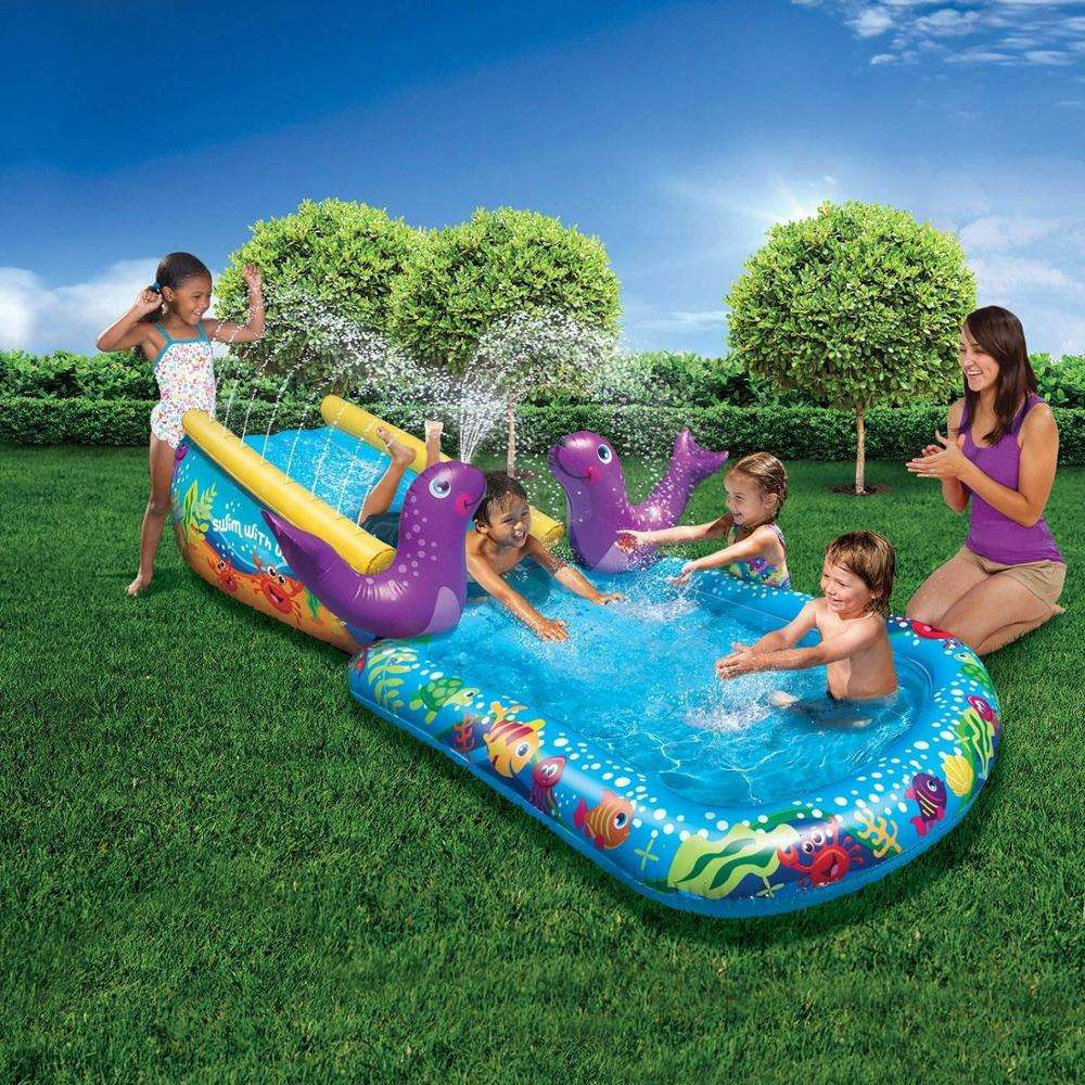 Balita Outdoor Inflatable Water Slide dan Kolam Renang