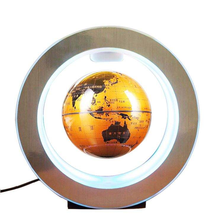 Fashion Home magnetic rotating globe world map globe Magnetic Levitation Floating Globe Rotating Suspended In Air with LED Light