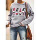 Fashion Wholesale OEM Manufacturer Custom Hooded Long Sleeve Christmas Pullover Women Sweatshirt