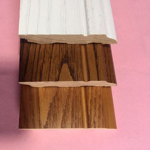 pure solid wood baseboard floor accessories antique smooth parquet skirting board profile