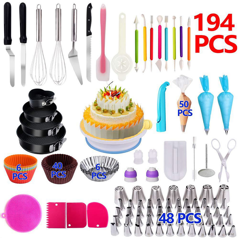 NEW Stainless steel cake, pastry nozzles piping icing tips sets / cake supplies decorating tips tool