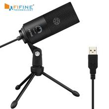 Fifine USB Condenser Computer Microphone Professional Voice Recording Microphone