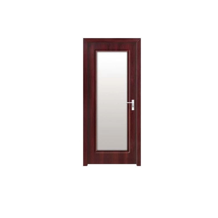 Euro Design Solid Wooden Painted PVC MDF Entry Fireproof Door