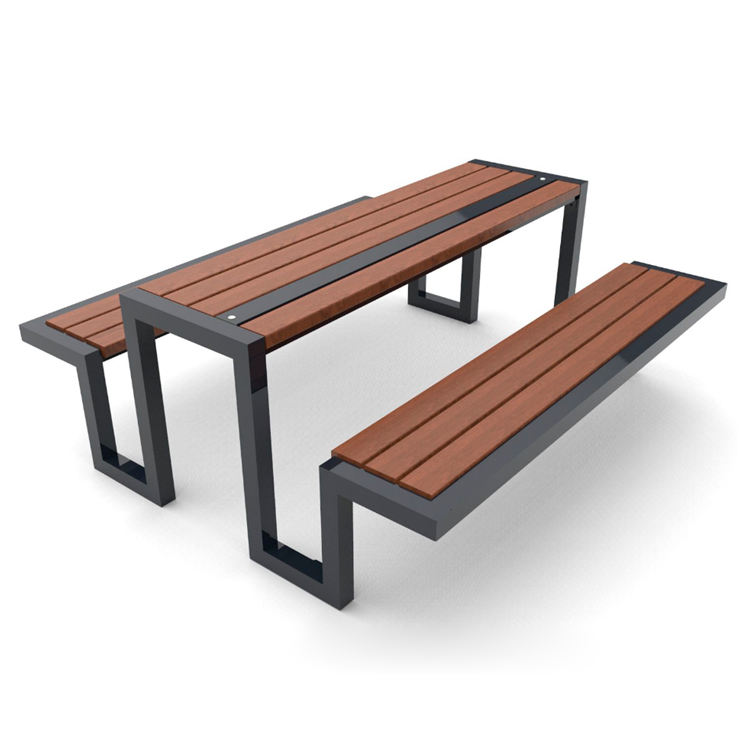 Outdoor Bench Set Picnic Table Park Metal Picnic Table And Bench