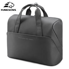 Kingsons new design custom logo laptop briefcase bag fashionable cross body nylon  laptops bag 15.6 inch waterproof for men
