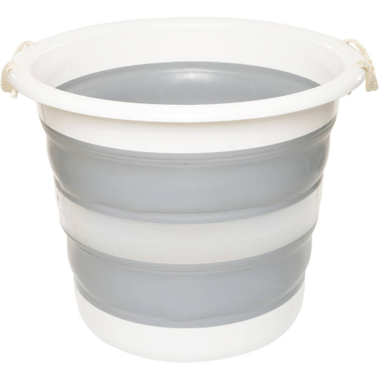 Large size collapsible water bucket 30L capacity plastic folding laundry bucket