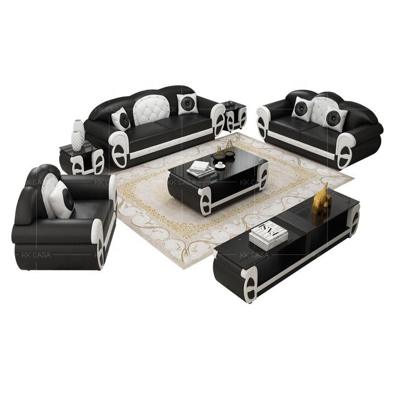 Yüksek kalite modern tasarım deri kesit kanepe seti oturma odası mobilya Fransa sıcak satış