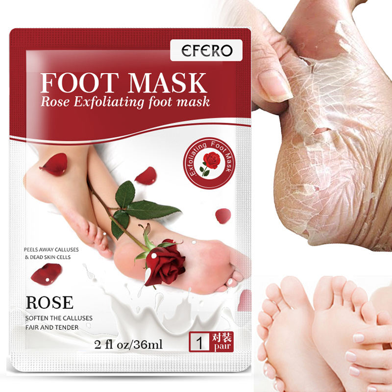 EFERO Exfoliating Feet Masks Foot Peel Mask Socks for Pedicure Spa elimilate odor Remove Dead Skin Heels For Woman Men Skin Care