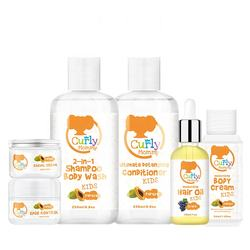 CURLYMOMMY Branded natural kids hair care products set moisturizing repairing treatment