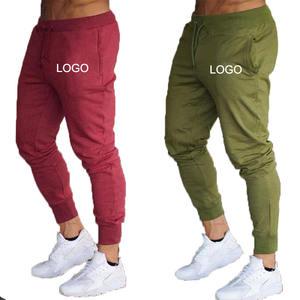 Custom Logo Men Cotton Jogger Pants Sweatpants Eco Friendly Tapered Slim Fit Joggers Grey Gym Joggers de hombres Mens Activewear