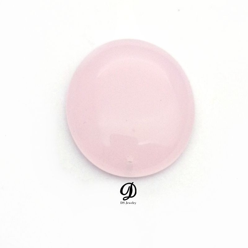 DS Jewelry wholesale high quality pink opaque flat bottom glass gems