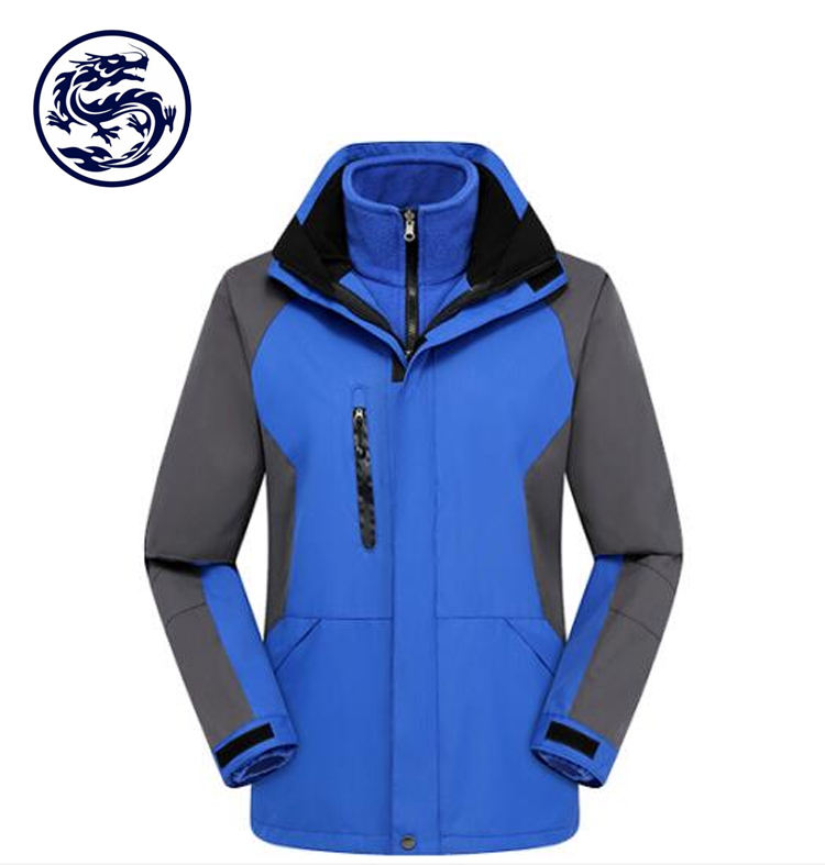 Outdoor Fashion Inner Fleece Dual Two Layer Keep you Extra Warm and Dry when Temperature Dips 3 in 1 Jacket Windbreaker