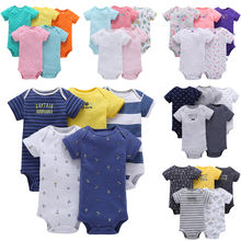 Custom OEM 100% Organic Cotton Baby Boys Girls Jumpsuit Rompers Onesie Boutique Clothing Sets