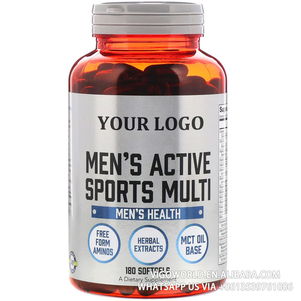 OEM Extreme Sports Multi with Free-Form Amino Acids Sports Multivitamin Improve Men's Energy Capsules