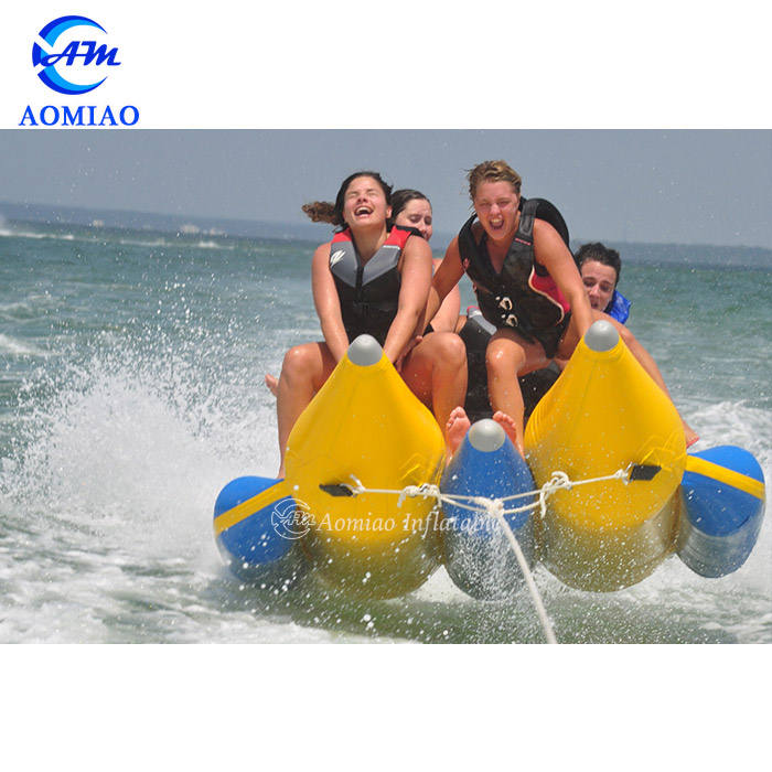 Funny inflatable flying banana floating boat inflatable water games toys