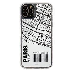 New Products 2020 Unique Air Ticket Sketch Map Soft Silicone TPU Bumper Back Cover Clear Phone Case For iPhone 11 Pro Max