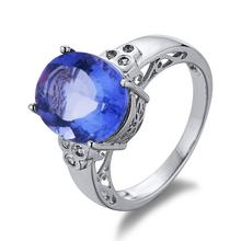 Jufeng Colour Change Fluorite S925 ring sterling silver 2020 rings jewelry women engagement