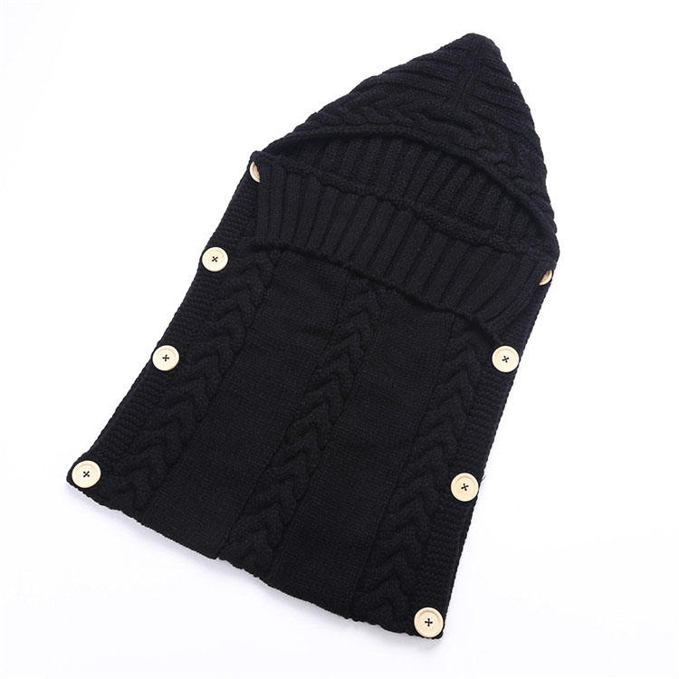 China fashionable winter new born stroller baby girls knitted sleeping bag