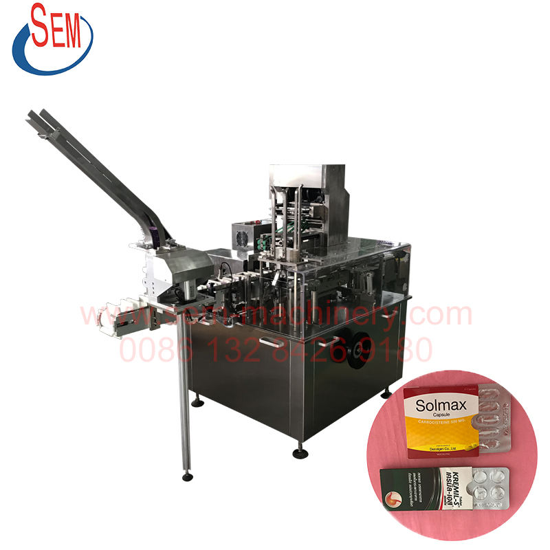 OEM blister wiht leaflet carton box packing machine