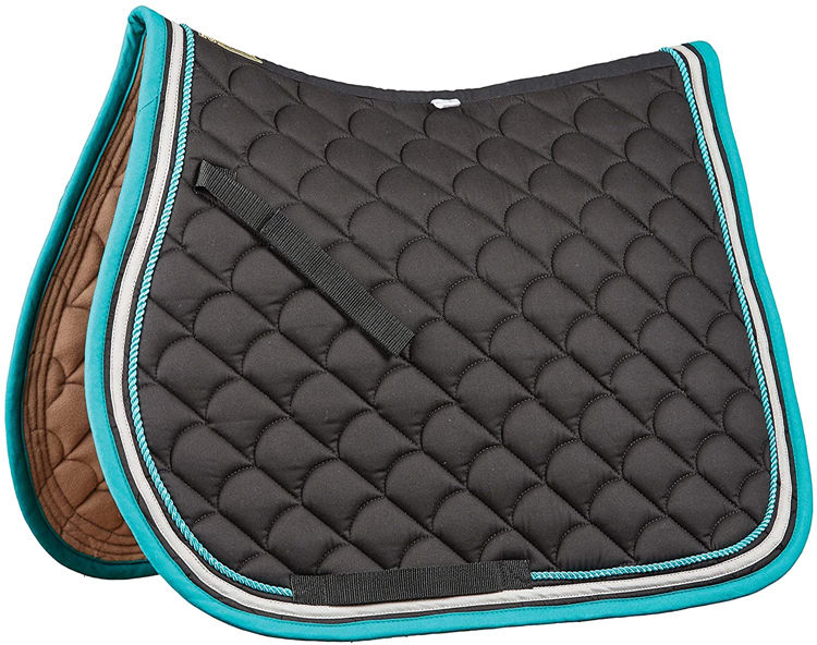 Custom Design Satin Fabric English Dressage Saddle Pad Endurance Saddle Pad