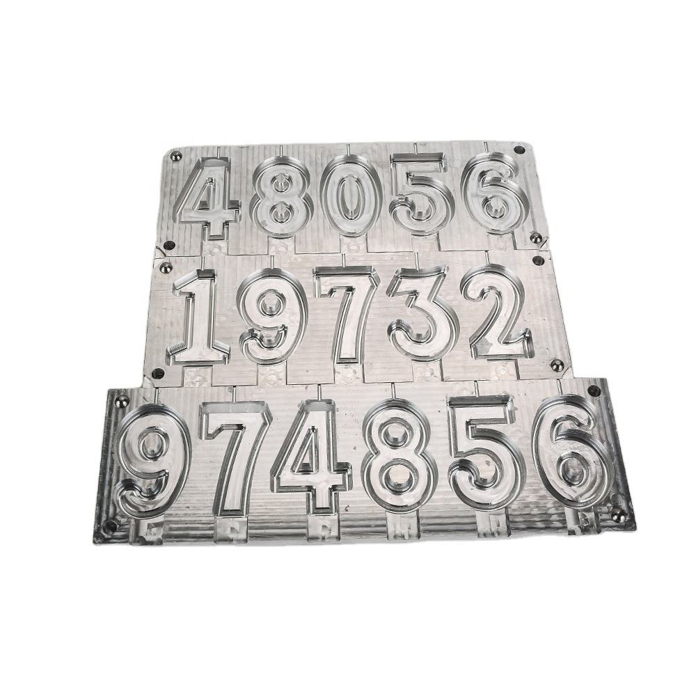 Customized Aluminum Birthday Number Candle Molds