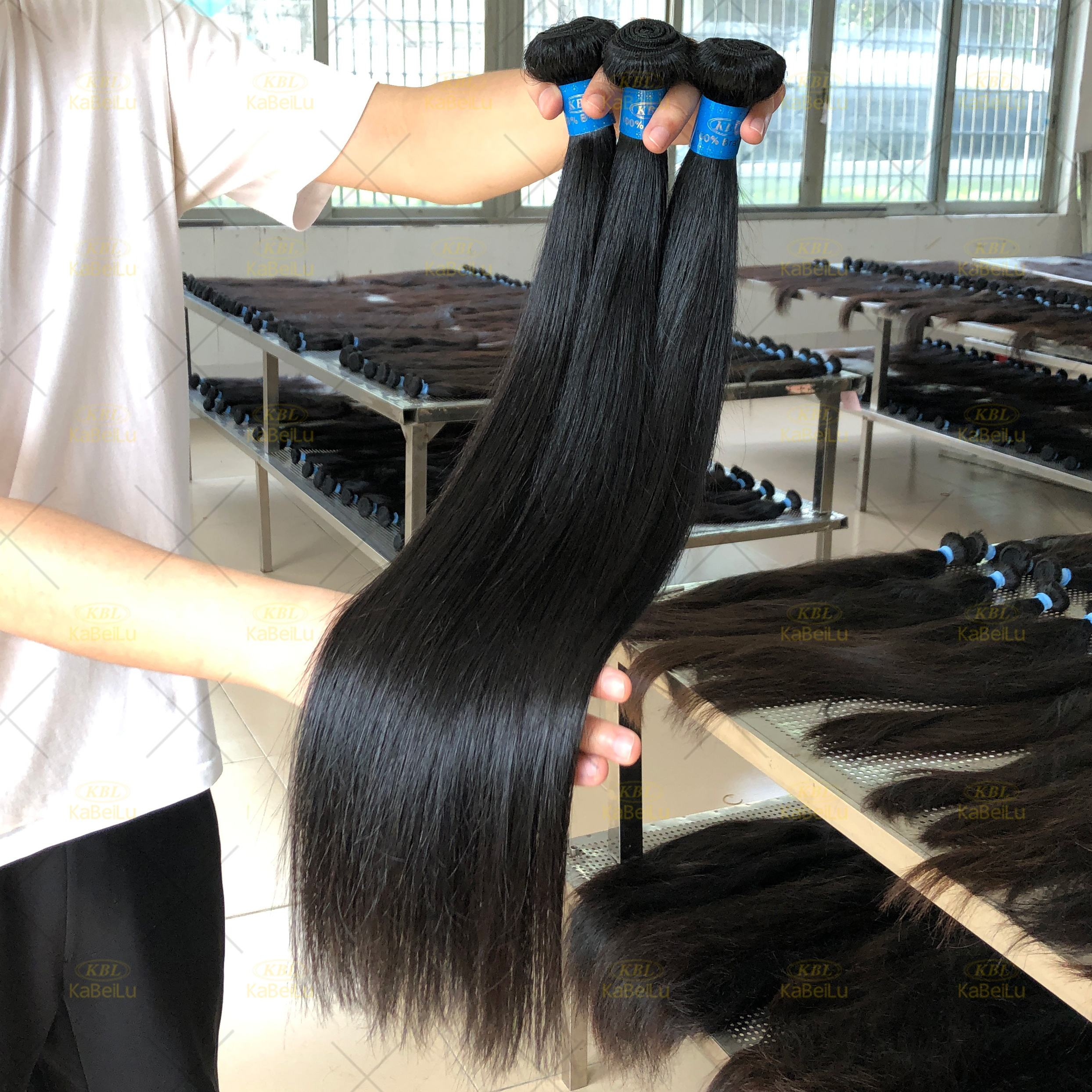 Guangzhou hair factory KBL wholesale 10a grade raw virgin brazilian cuticle aligned hair