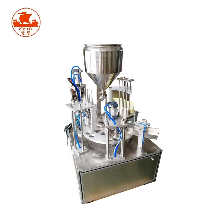 Multifunctional Rotary Type Cup Candy Litchi Drink Packaging Filling And Sealing Machine
