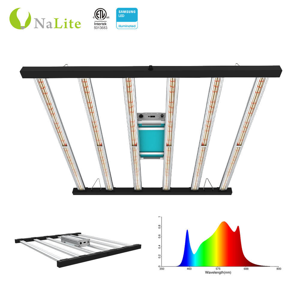 Nalite 3H 2010 new product idea bluetooth dimming timer commercial led grow light samsung LM301B LM301H 6 bars 650W