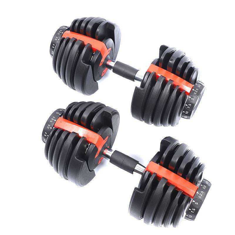 Dumbbell Set Weight Lifting 24KG 40kg Gym Box Packing Adjustable Other Fitness Accessories Gym Equipment Dumbbell Set