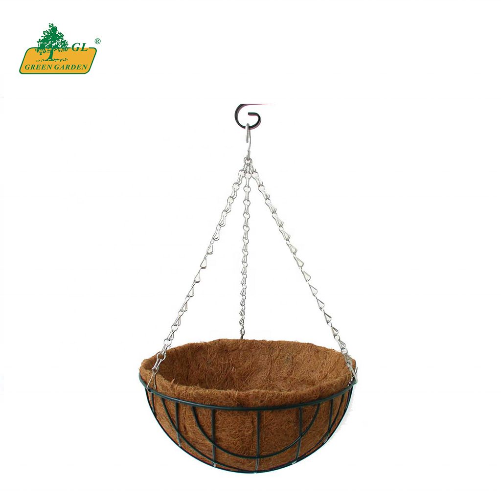 Hot sale Products Hanging Basket With Liner Coco Hanging Planters Round Shape Coco Hanging Baskets