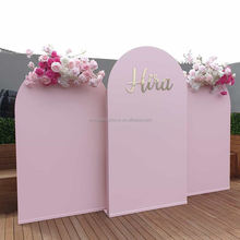 Blush Pink White Wall Door Shape Mariage Wedding Decoration Backdrop Panel for Wedding