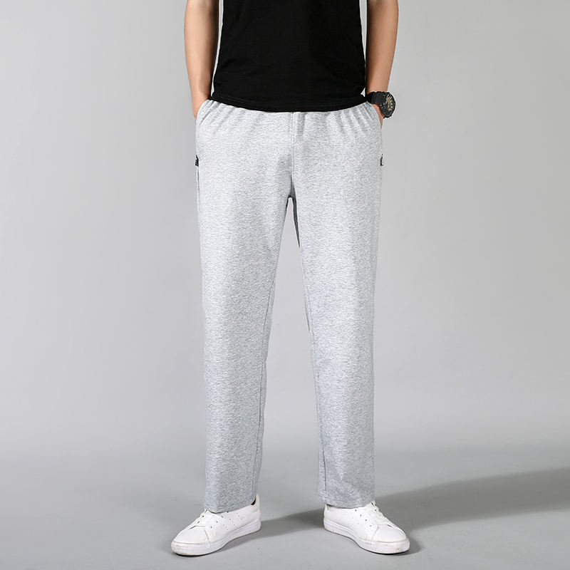 Breathable Cotton Chinos Trousers men casual track pants for training wear