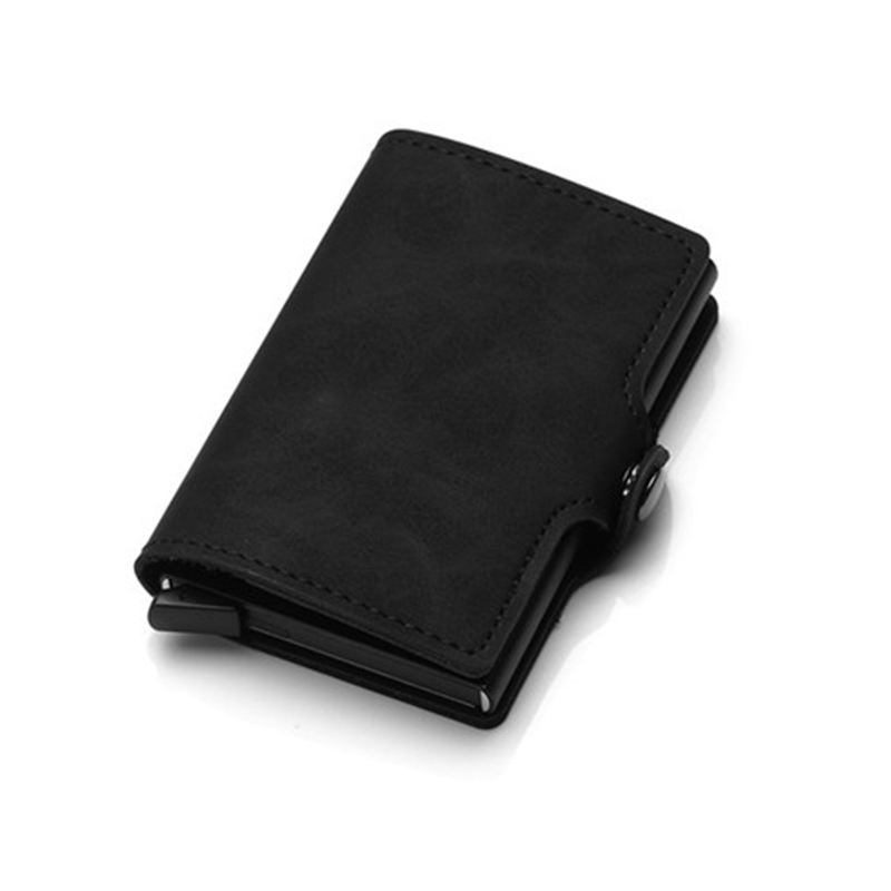 PU Leather Credit Card Holder Card Case RFID Wallets Hasp Vintage Business ID Holder Single Box