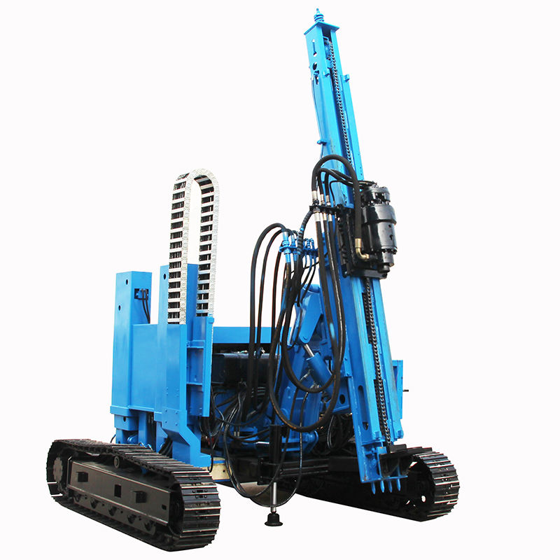 hammer hydraulic excavator screw soil ground pile drivers for PV Solar Photovoltaic Installation