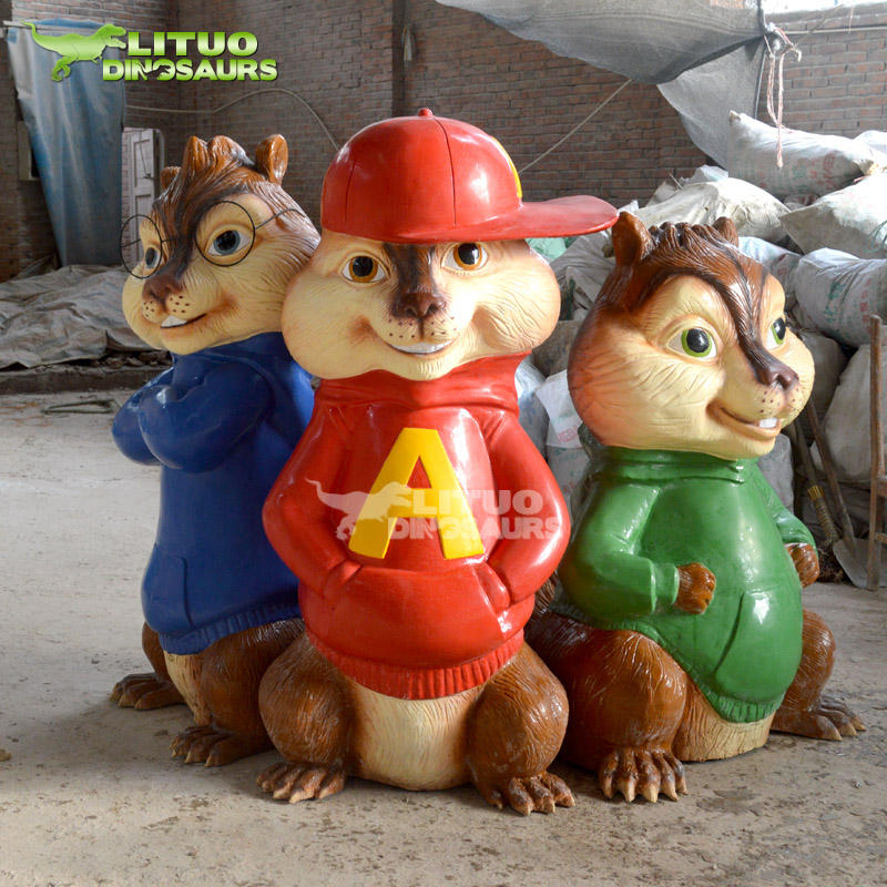 Fiberglass Alvin And The Chipmunks Statue