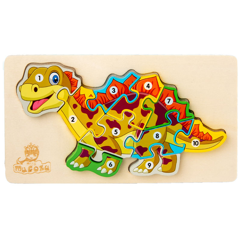 Intelligent toys for kids toys wooden animal dinosaur jigsaw puzzles wooden toys puzzle