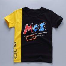 2020 New design Summer High Quality Customized Cotton Printing Fashion Children's clothing  Kids t shirt